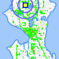 Click for map showing location of Metropolis in Seattle (opens in new window)