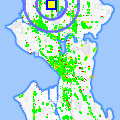 Click for map showing location of Greenwood Family Dentistry in Seattle (opens in new window)