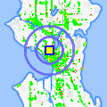 Click for map showing location of Sushi Land in Seattle (opens in new window)