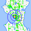 Click for map showing location of Three by Ten in Seattle (opens in new window)