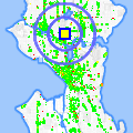 Click for map showing location of Dollar Plus in Seattle (opens in new window)