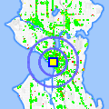 Click for map showing location of Tully's Coffee 2000 1st in Seattle (opens in new window)