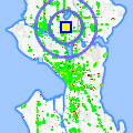 Click for map showing location of The Travel Circle in Seattle (opens in new window)