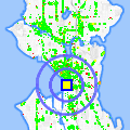 Click for map showing location of Thrifty Car Rental in Seattle (opens in new window)