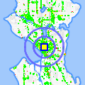 Click for map showing location of Starbucks in Seattle (opens in new window)