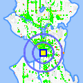 Click for map showing location of KBRO/KNTB in Seattle (opens in new window)