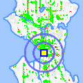 Click for map showing location of Hair on the Square in Seattle (opens in new window)