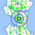 Click for map showing location of Starbucks Coffee in Seattle (opens in new window)