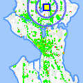 Click for map showing location of Green Lake Terrace Condos in Seattle (opens in new window)