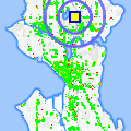 Click for map showing location of Dinabean Catering in Seattle (opens in new window)
