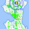Click for map showing location of Gregg's Greenlake Cycle in Seattle (opens in new window)