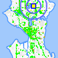 Click for map showing location of Green Lake Apts in Seattle (opens in new window)