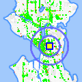 Click for map showing location of Madison Park Greetings in Seattle (opens in new window)