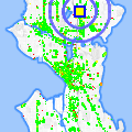 Click for map showing location of Swedish Greenlake Clinic in Seattle (opens in new window)