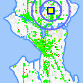 Click for map showing location of East West Bookshop in Seattle (opens in new window)