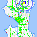Click for map showing location of LaVassar Florists in Seattle (opens in new window)