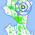 Click for map showing location of Chambered Nautilus B & B in Seattle (opens in new window)