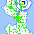 Click for map showing location of Shell in Seattle (opens in new window)