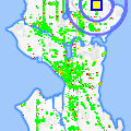 Click for map showing location of Seattle Audubon Society in Seattle (opens in new window)