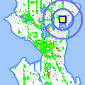 Click for map showing location of Coffee Crew in Seattle (opens in new window)